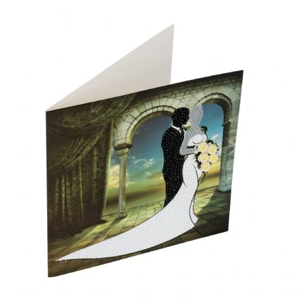 Crystal Art D.I.Y card kit WEDDING COUPLE